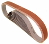 "Aluminum Oxide Sanding Belts, 1"" by 30"", 100 Grit, Pack of 10."