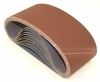 "Aluminum Oxide Sanding Belts, 3"" by 18"", 120 Grit, Pack of 10."