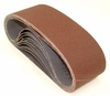 "Aluminum Oxide Sanding Belts, 3"" by 21"", 80 Grit, Pack of 10."