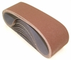 "Aluminum Oxide Sanding Belts, 3"" by 24"", 100 Grit, Pack of 10."