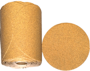 "Automotive Gold 6"" Self-Adhesive Sanding Discs, 180 Grit, Roll of 100."
