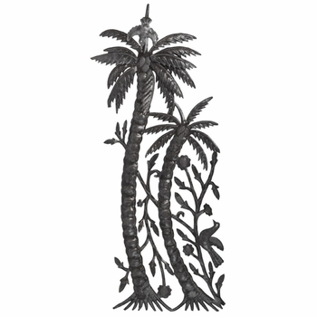 Double Palm Tree Plaque - 3D