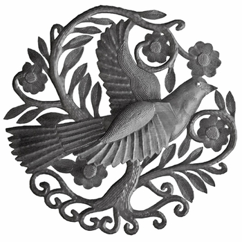 3D Metal Bird Plaque