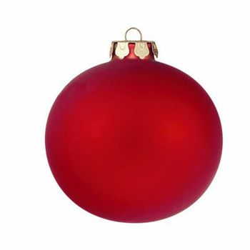 "4"" Ornament  - Matte Scarlet"