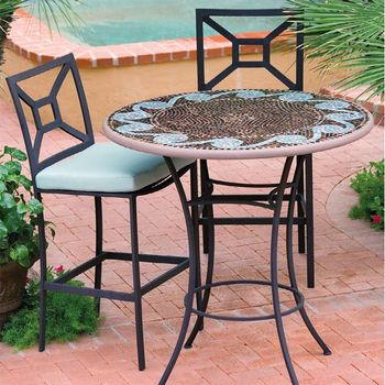 "42"" Mosaic High Dining Set for 4"