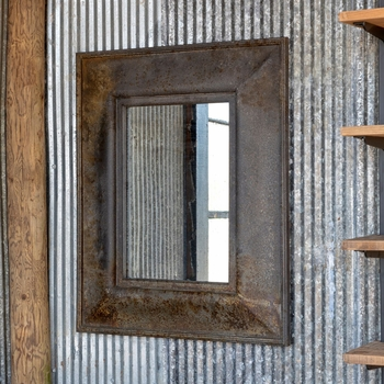 Aged Foundry Mirror