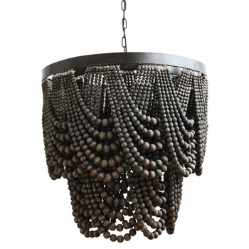 Allister Black Wood Chandelier