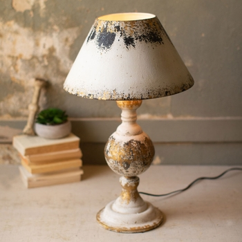Antiqued Table Lamp