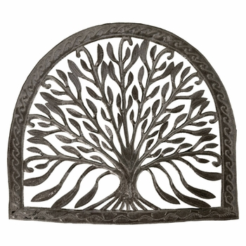 Arch w/ Tree Metal Plaque