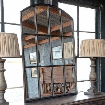 Arched Warehouse Window Mirror