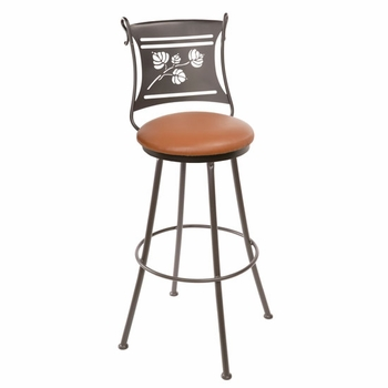 Aspen Wrought Iron Bar Stool