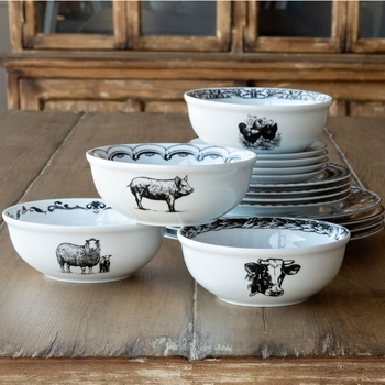 Barnyard Breakfast Bowls (Set-4)
