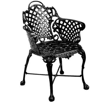 Basketweave Patio Arm Chair