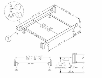 Bed Frame - Twin / Full