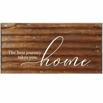 Best Journey Metal Wall Sign
