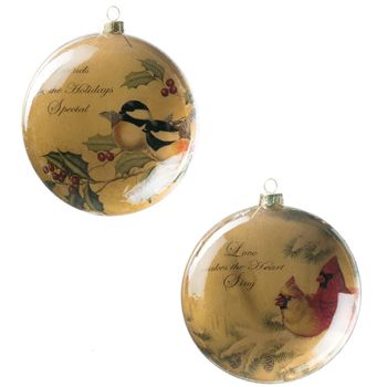Bird Ornament 5in (Set-2)