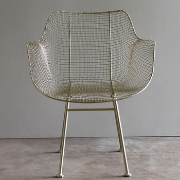 Biscayne Wire Chair - Silver (Set)