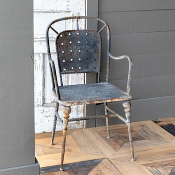 Black Cafe Arm Chair (Set-2)