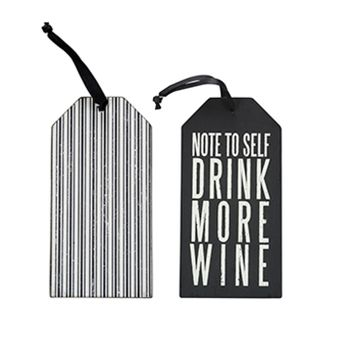 Bottle Tag - Drink More Wine -CS