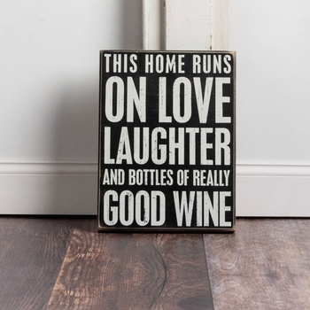 Bottles Of Wine - Box Sign