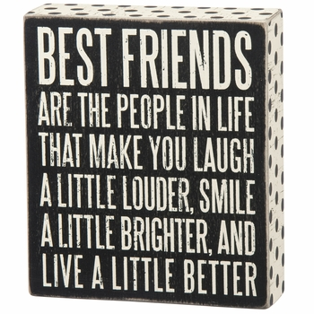 Box Sign - Best Friends -CS