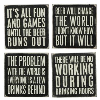 Box Sign Coasters - Beer