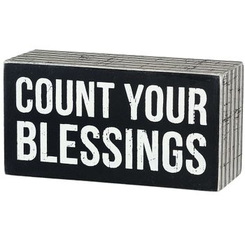 Count Blessings - Box Sign