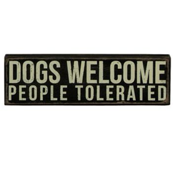 Box Sign - Dogs Welcome
