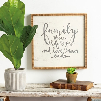 Family Life - Box Sign