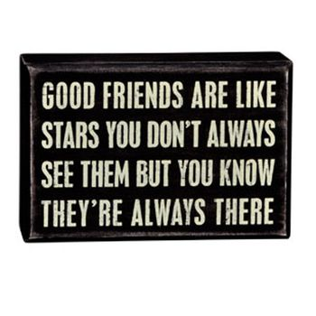 Box Sign - Good Friends