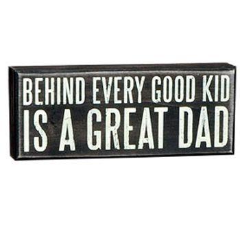 Box Sign - Great Dad -CS