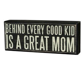 Box Sign - Great Mom