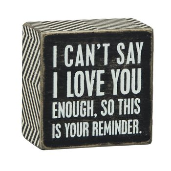 I Love You - Box Sign
