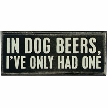 Box Sign - In Dog Beers