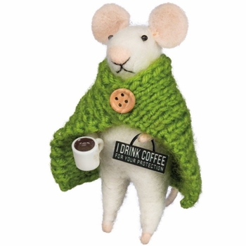 Box Sign Mouse - Coffee
