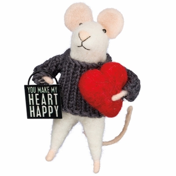 Box Sign Mouse - Heart Happy -CS
