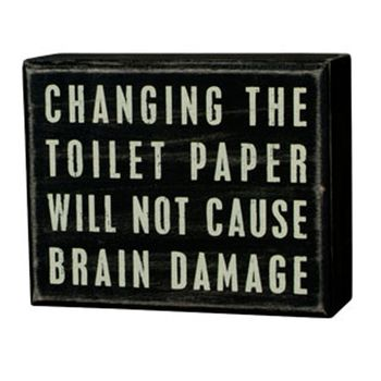 Box Sign - Toilet Paper -CS