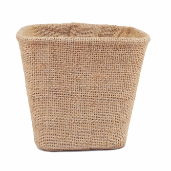 Burlap Covered Tin Basket -CS