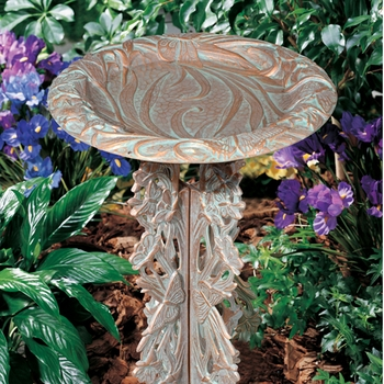 Butterfly Bird Bath & Pedestal