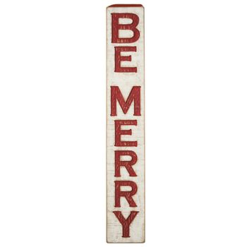 Carved Sign - Be Merry