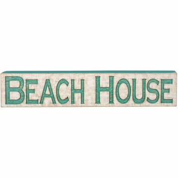 Carved Sign - Beach House