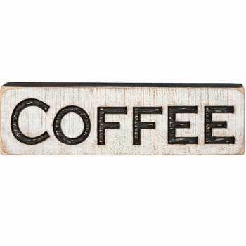 Carved Sign - Coffee
