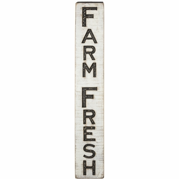 Carved Sign - Farm Fresh