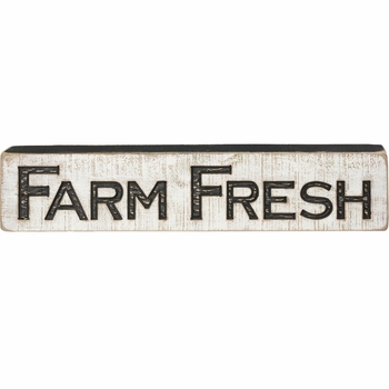 Carved Sign - Farm Fresh - Wide