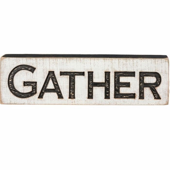 Carved Sign - Gather