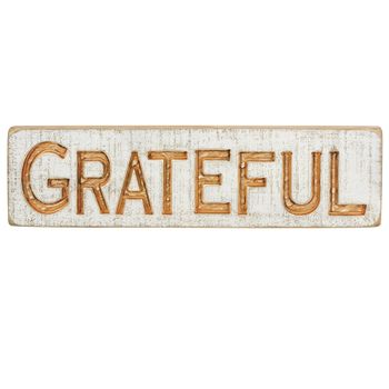 Carved Sign - Grateful