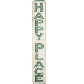 Carved Sign - Happy Place -CS