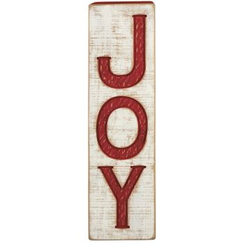 Carved Sign - Joy