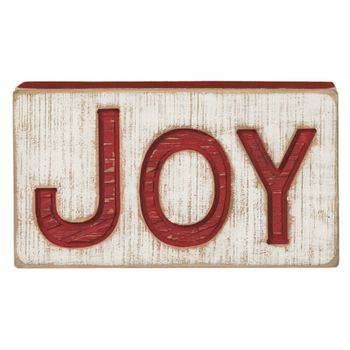 Carved Sign - Joy - Wide