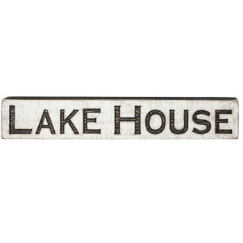 Lake House Carved Sign